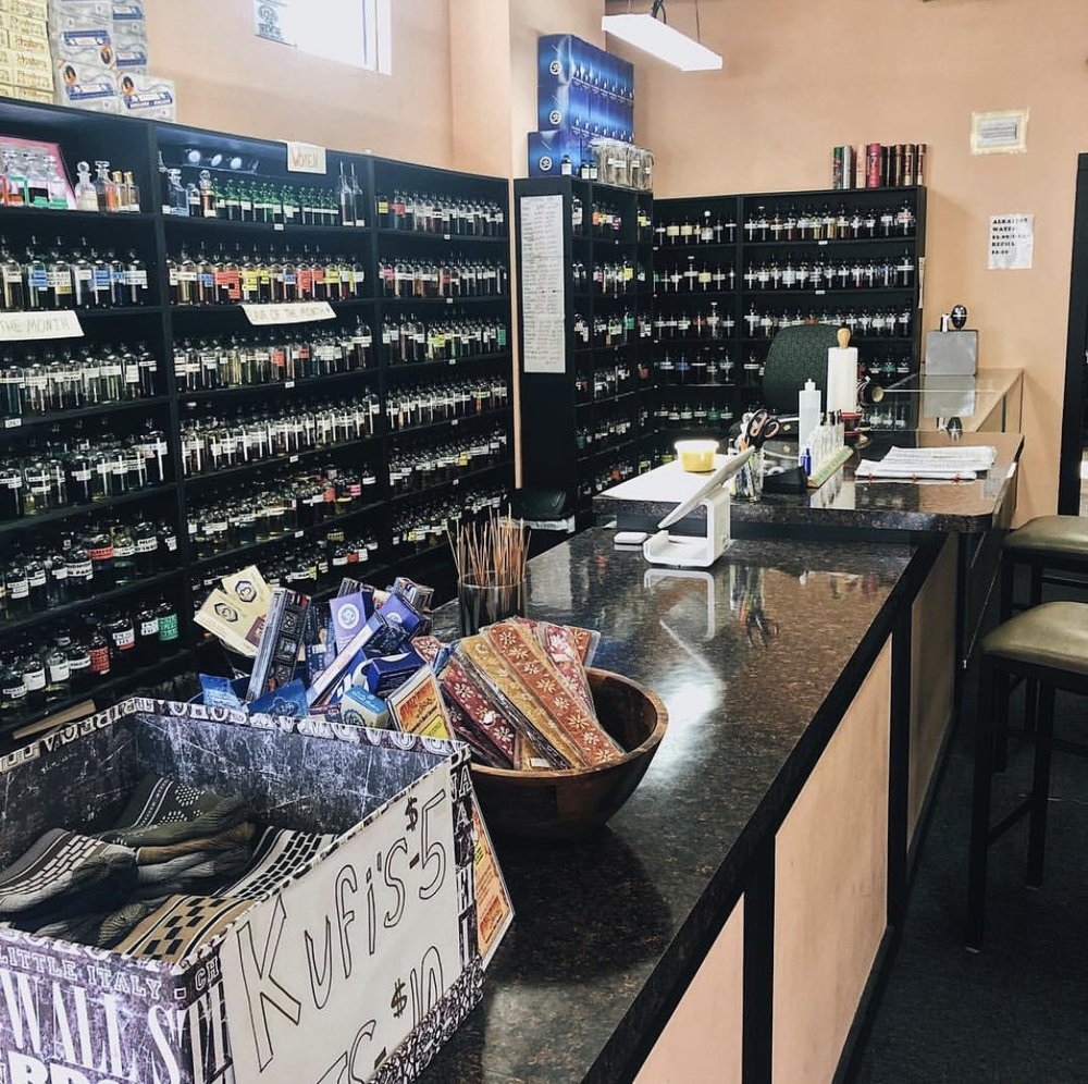 Smell Good Cafe - Unique Bath and Body Shop! Currently offering over 700 perfumed body oils, the largest selection in West Michigan. They carry everything from designer scents, to exotic Oriental fragrances.